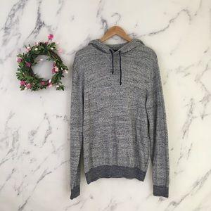 GAP Heather Grey Boyfriend Pullover Hoodie Sweater